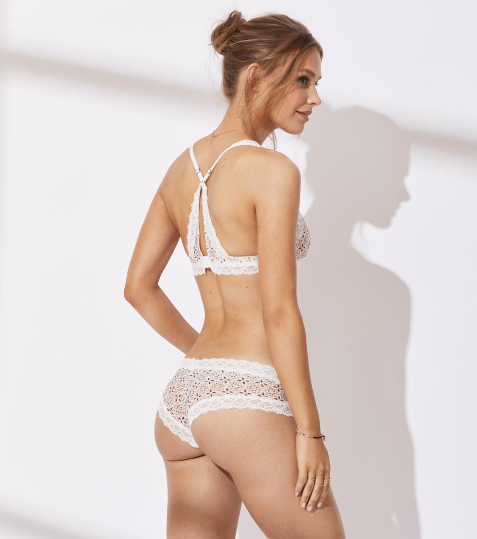 Printed Lace Oddity Hipster