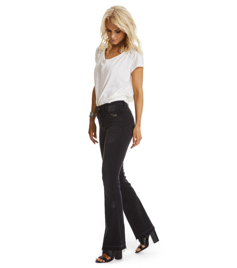 Janis Black Stretch Flare Jean