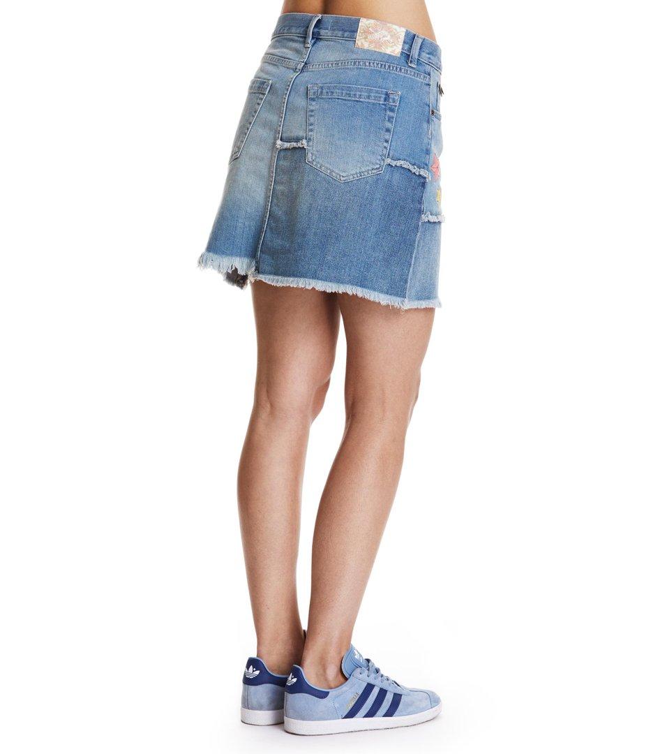 band jeans skirt